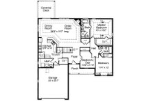 Traditional Floor Plan - Main Floor Plan Plan #46-400