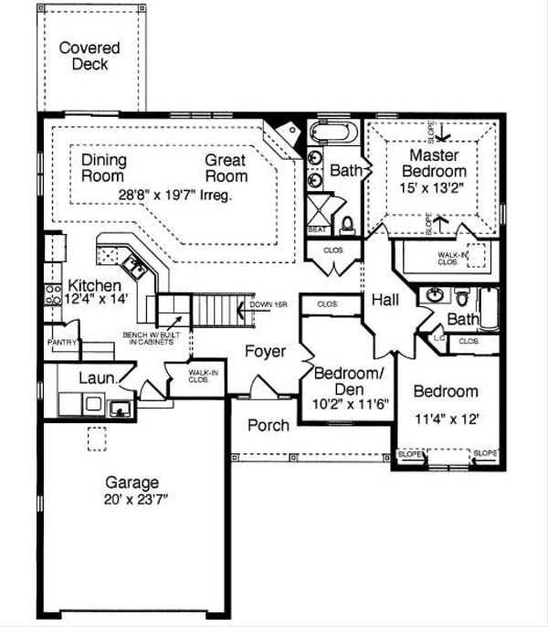 Traditional Floor Plan - Main Floor Plan Plan #46-400