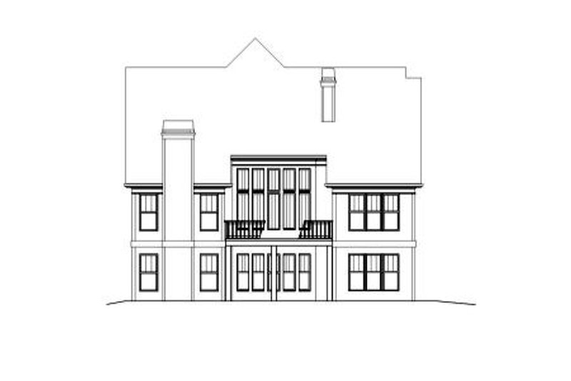European Exterior - Rear Elevation Plan #119-329 - Houseplans.com