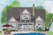 Country Style House Plan - 4 Beds 3.5 Baths 2607 Sq/Ft Plan #929-1075 Exterior - Rear Elevation