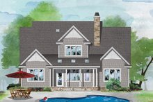House Plan Design - Country Exterior - Rear Elevation Plan #929-1075
