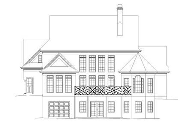 Craftsman Exterior - Rear Elevation Plan #119-333 - Houseplans.com