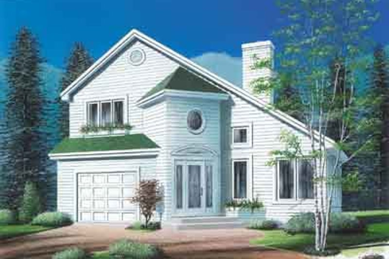 Exterior - Front Elevation Plan #23-517