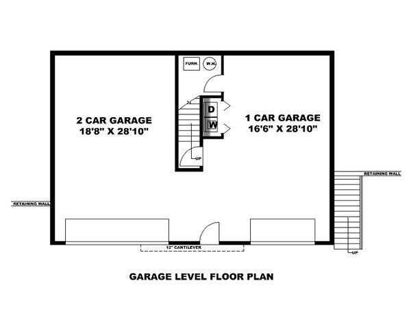 House Plan Design - Contemporary Floor Plan - Lower Floor Plan #117-905