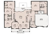 European Style House Plan - 4 Beds 3.5 Baths 2639 Sq/Ft Plan #36-487 Floor Plan - Main Floor Plan