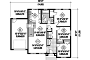 Traditional Style House Plan - 3 Beds 1 Baths 1160 Sq/Ft Plan #25-4592 Floor Plan - Main Floor Plan