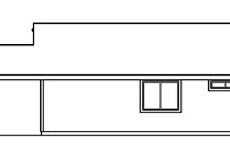 Traditional Exterior - Rear Elevation Plan #124-359 - Houseplans.com