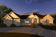 Ranch Style House Plan - 2 Beds 2.5 Baths 4373 Sq/Ft Plan #70-1293 Exterior - Front Elevation