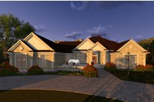 Ranch Exterior - Front Elevation Plan #70-1293