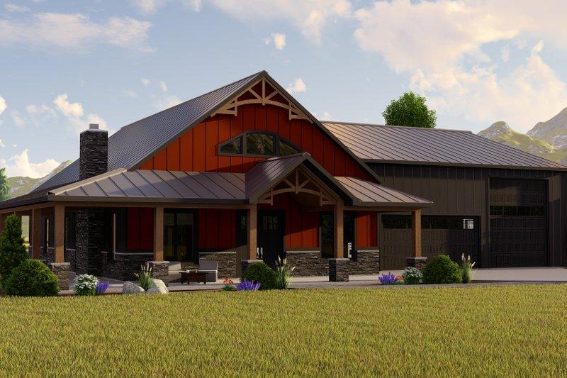 House Blueprint - Farmhouse Exterior - Front Elevation Plan #1064-148
