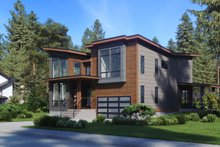 Home Plan - Contemporary Exterior - Other Elevation Plan #1066-81