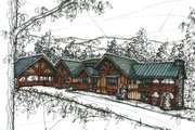 Craftsman Style House Plan - 4 Beds 4 Baths 3440 Sq/Ft Plan #921-11 Exterior - Front Elevation