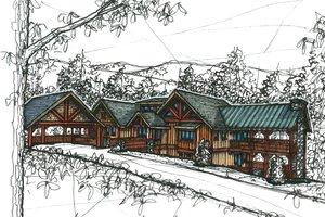 Craftsman Exterior - Front Elevation Plan #921-11