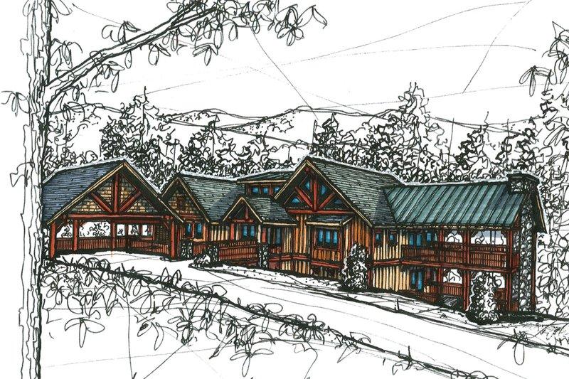 Craftsman Style House Plan - 4 Beds 4 Baths 3440 Sq/Ft Plan #921-11