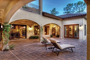 Mediterranean Exterior - Outdoor Living Plan #930-21