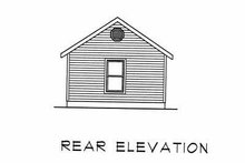 Cottage Exterior - Rear Elevation Plan #22-126