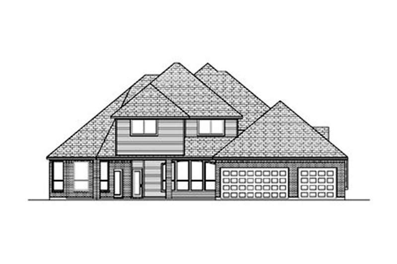Traditional Exterior - Rear Elevation Plan #84-418 - Houseplans.com