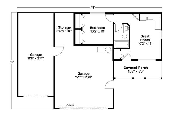 House Plan Design - Traditional Floor Plan - Main Floor Plan #124-656