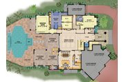Contemporary Style House Plan - 5 Beds 8 Baths 6001 Sq/Ft Plan #548-25 Floor Plan - Main Floor Plan