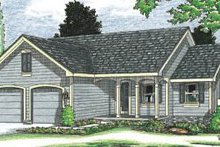 Home Plan Design - Traditional Exterior - Front Elevation Plan #20-110