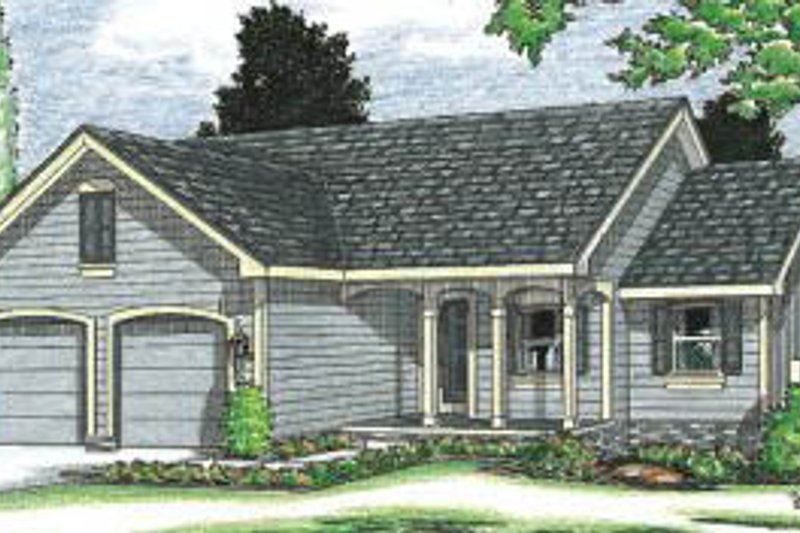 Traditional Exterior - Front Elevation Plan #20-110 - Houseplans.com