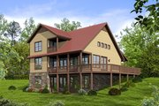 Cabin Style House Plan - 3 Beds 2 Baths 1970 Sq/Ft Plan #932-344
