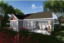 Craftsman Exterior - Rear Elevation Plan #70-1262