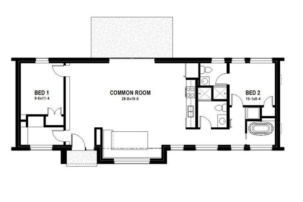 Modern Floor Plan - Main Floor Plan Plan #497-33