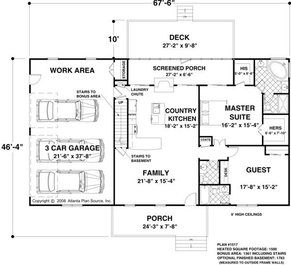 Traditional Floor Plan - Main Floor Plan Plan #56-606
