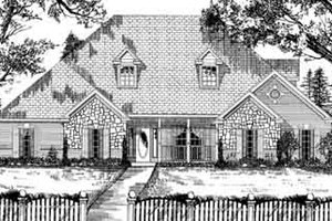 European Exterior - Front Elevation Plan #62-138