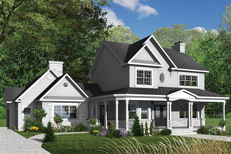 Country Exterior - Front Elevation Plan #23-382
