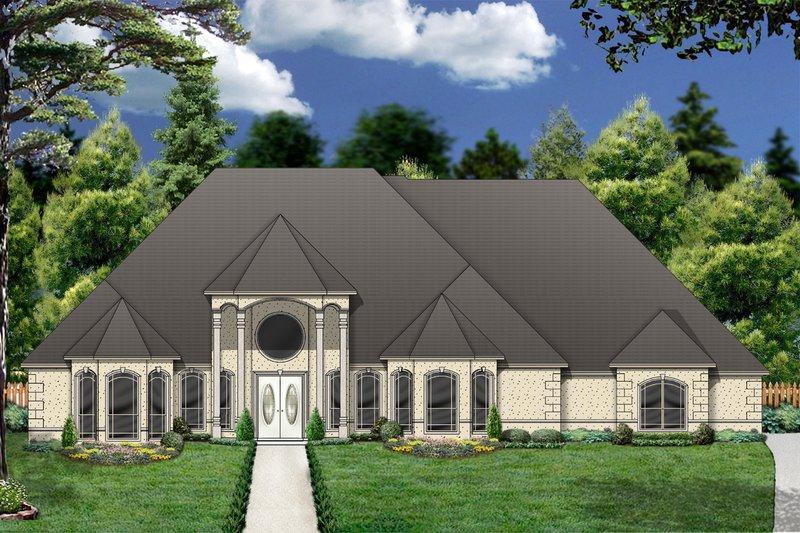 Architectural House Design - Mediterranean Exterior - Front Elevation Plan #84-424