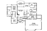 Ranch Style House Plan - 3 Beds 3.5 Baths 2718 Sq/Ft Plan #124-974 Floor Plan - Main Floor Plan