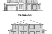 Prairie Style House Plan - 5 Beds 4.5 Baths 4073 Sq/Ft Plan #1066-72 Exterior - Other Elevation