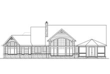 Country Exterior - Rear Elevation Plan #124-1010