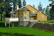 Modern Style House Plan - 1 Beds 2 Baths 1991 Sq/Ft Plan #1-1398 Exterior - Front Elevation
