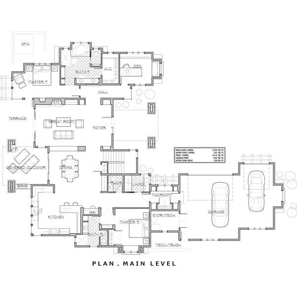 Craftsman Floor Plan - Main Floor Plan Plan #892-7