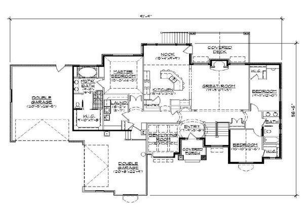House Plan Design - European Floor Plan - Main Floor Plan #5-284
