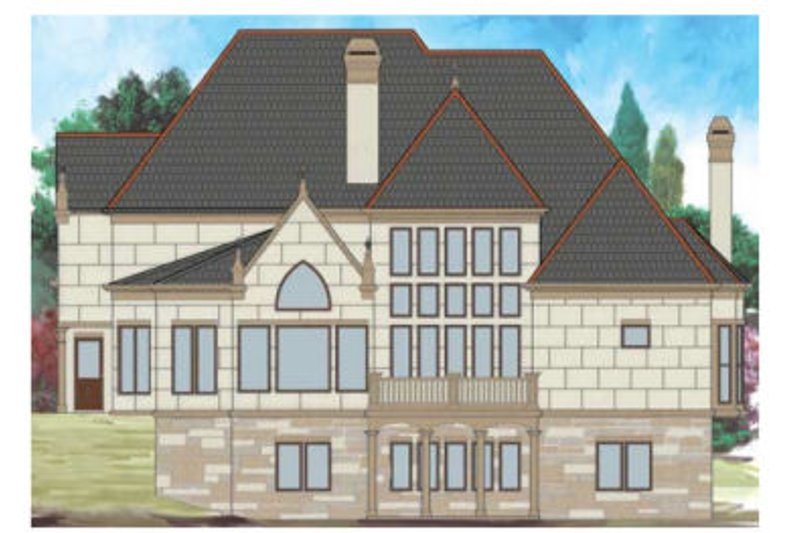 Traditional Exterior - Rear Elevation Plan #119-352 - Houseplans.com