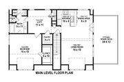 Traditional Style House Plan - 1 Beds 1.5 Baths 1220 Sq/Ft Plan #81-13913 Floor Plan - Main Floor Plan