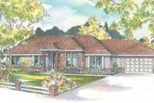 House Plan Design - Ranch Exterior - Front Elevation Plan #124-484