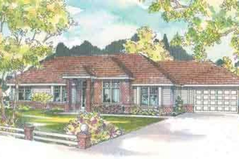Ranch Exterior - Front Elevation Plan #124-484