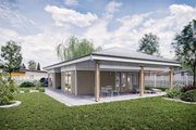 Ranch Style House Plan - 2 Beds 1 Baths 795 Sq/Ft Plan #924-11 Exterior - Rear Elevation