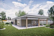 Ranch Exterior - Rear Elevation Plan #924-11