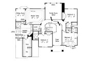European Style House Plan - 5 Beds 4.5 Baths 3525 Sq/Ft Plan #927-24