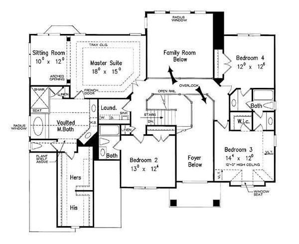 European Floor Plan - Upper Floor Plan Plan #927-24