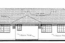 House Blueprint - European Exterior - Rear Elevation Plan #18-139