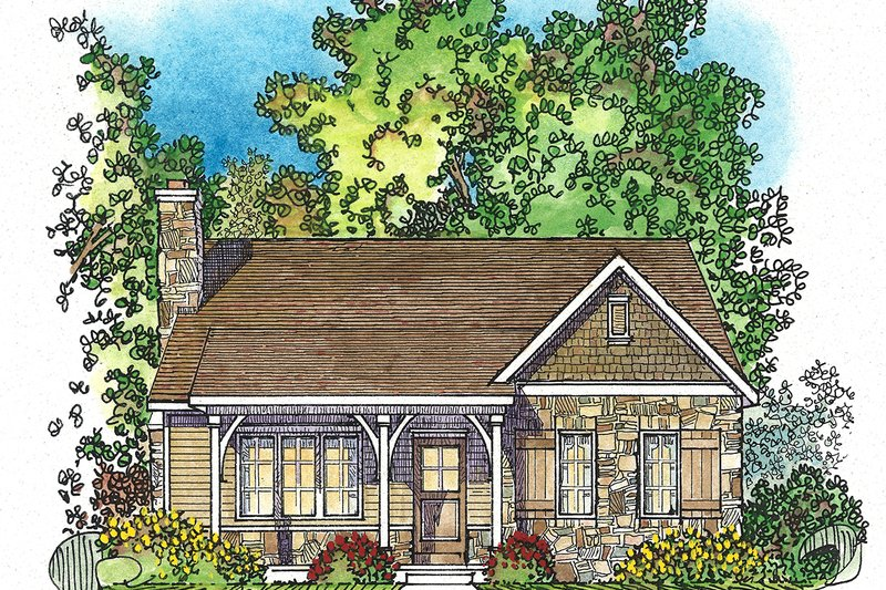 Dream House Plan - Cottage Exterior - Front Elevation Plan #22-570