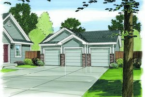 Traditional Exterior - Front Elevation Plan #455-83