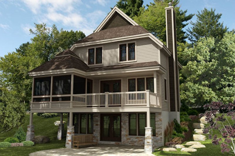 Farmhouse Style House Plan - 4 Beds 2.5 Baths 2118 Sq/Ft Plan #138-343 Exterior - Front Elevation